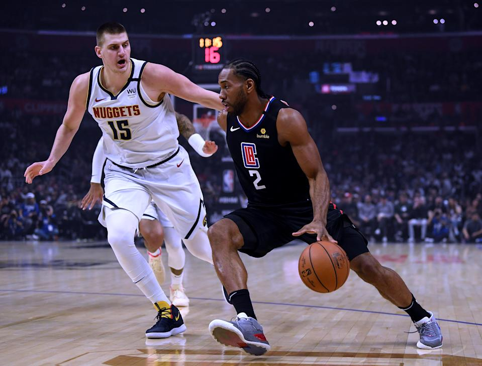 Can Nuggets star Nikola Jokic be the best player on the floor against Kawhi Leonard and the Clippers? (Harry How/Getty Images)
