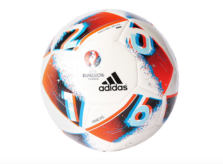 A miniature version of the ball the Euro stars played with. (Sportchek.ca)