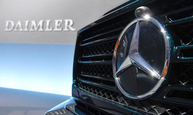 The Mercedes-Benz star is displayed on the front of a G-model