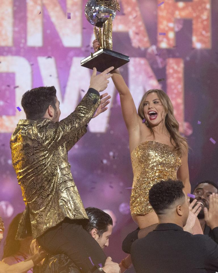 """The former<em>Bachelorette</em> became the second Bachelor Nation star to win the Mirrorball Trophy, taking top honors in 2019's season 28. """"It was awesome, I'm really thankful,"""" Brown said during a post-win visit to <em>Good Morning America</em> with partner Alan Bersten."""