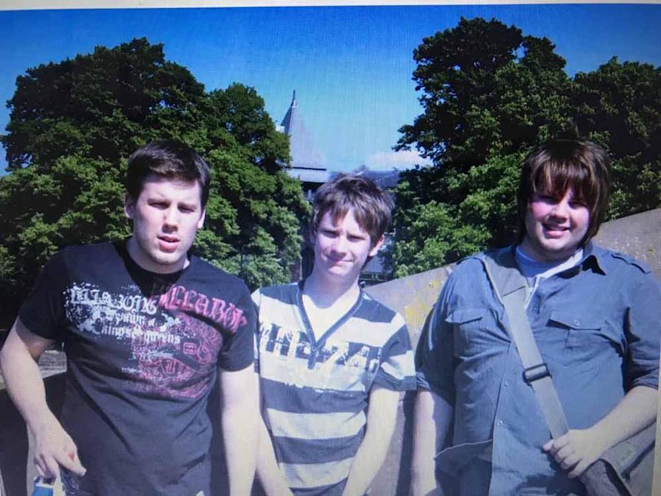 Rhys aged 20 with his brothers in 2006. PA REAL LIFE
