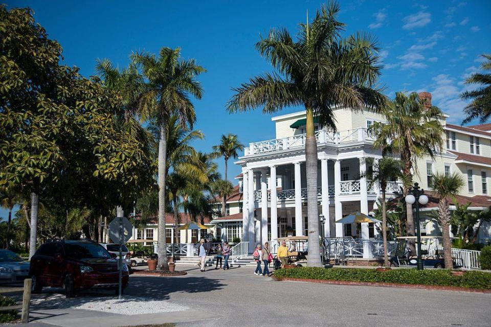 "<p><a href=""https://the-gasparilla-inn.com/"" rel=""nofollow noopener"" target=""_blank"" data-ylk=""slk:The Gasparilla Inn"" class=""link rapid-noclick-resp"">The Gasparilla Inn</a> is Old Florida charm at its finest and is one of the largest surviving resort hotels in the state, with more than a century of hospitality under its belt. Located on the eponymous barrier island off the west coast of the Sunshine State, The Gasparilla Inn offers secluded luxury. Every amenity you could dream of lies on this beautiful property so you never have to leave the island. Just be sure to snag a reservation at The Pink Elephant before arriving to ensure you get to treat your taste buds to a spectacular evening. </p>"