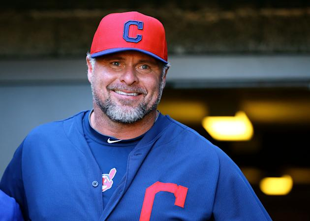 Jason Giambi helped bring daughters into the Indians clubhouse. (USA TODAY Sports)