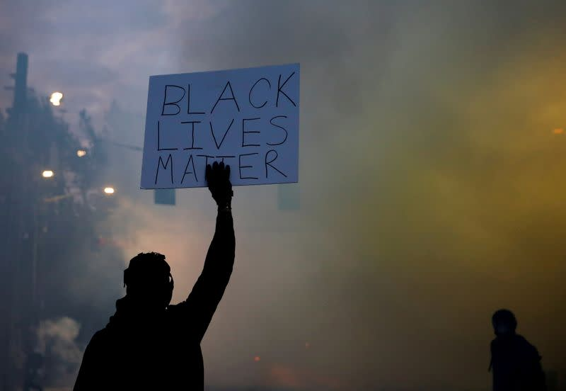 FILE PHOTO: Protesters rally against the death in Minneapolis police custody of George Floyd, in Seattle