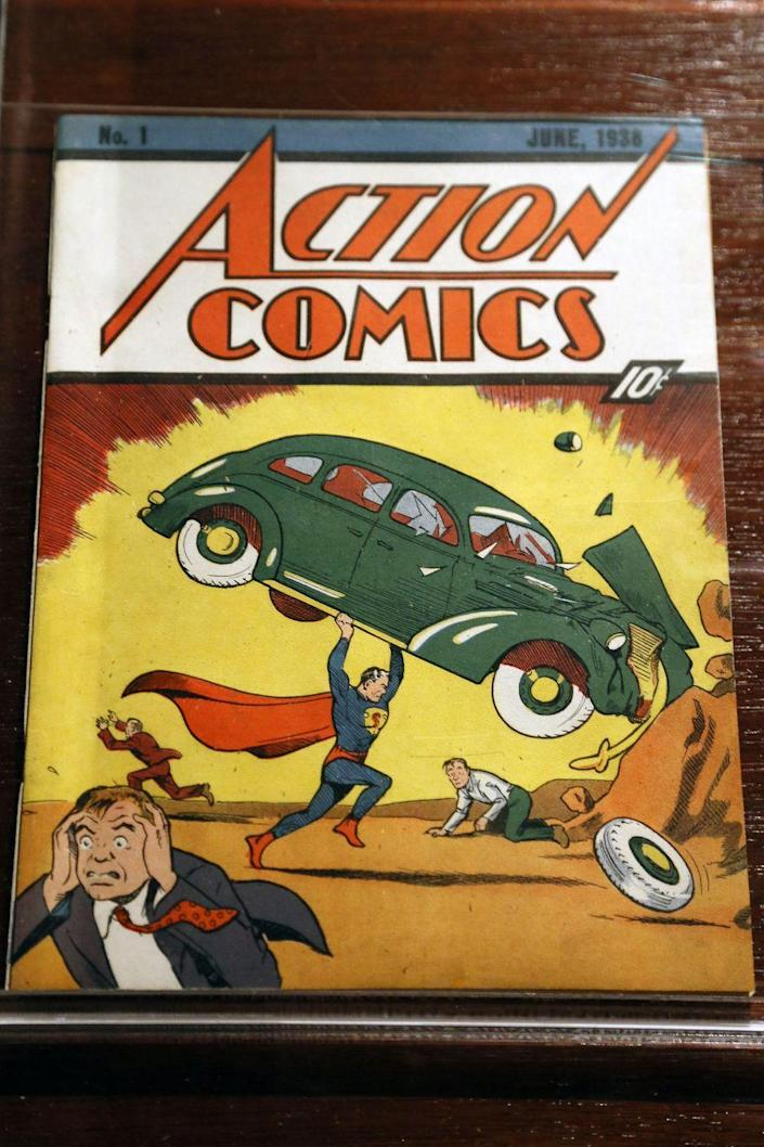 """<p>The most expensive comic ever sold on eBay, this """"pristine"""" 1938 edition went up for auction in 2014, to staggering results. Why the frenzy? It's the comic that first introduced Superman to the world, and there are fewer than 50 in existence worldwide. </p><p>Image via <a href=""""https://www.flickr.com/photos/jcapaldi/8705811176/"""" rel=""""nofollow noopener"""" target=""""_blank"""" data-ylk=""""slk:Jim, the Photographer/Flickr"""" class=""""link rapid-noclick-resp"""">Jim, the Photographer/Flickr</a></p>"""