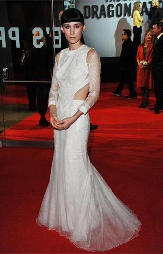 Rooney Mara at the London premiere of The Girl With the Dragon Tattoo on December 12, 2011.Photo by Jon Furniss, WireImage