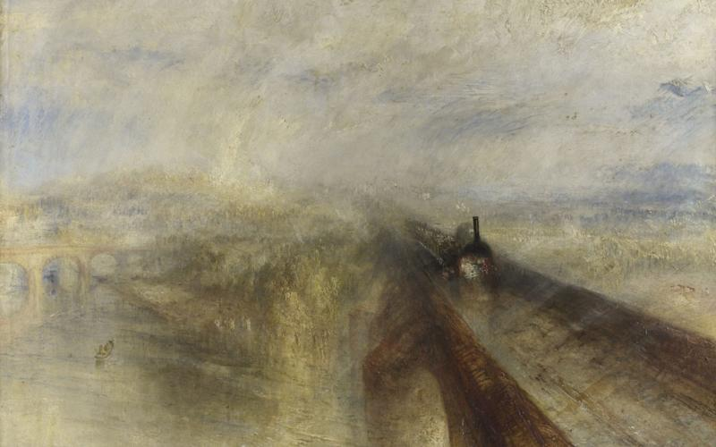 Blindingly original: Rain, Steam, and Speed (1844) - National Gallery