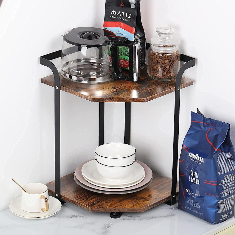 <p>From coffee bars to vanities, you'll make use of this <span>2-Tier Countertop Organizer</span> ($25). It is perfect for storing grab-and-go essentials and made for corner spots.</p>