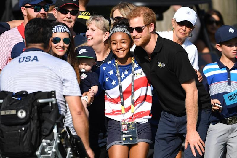 Prince Harry attends the golf event Invictus Games 2017 at Saint George's Golf Club, Toronto, Canada (Mark Large/Daily Mail)