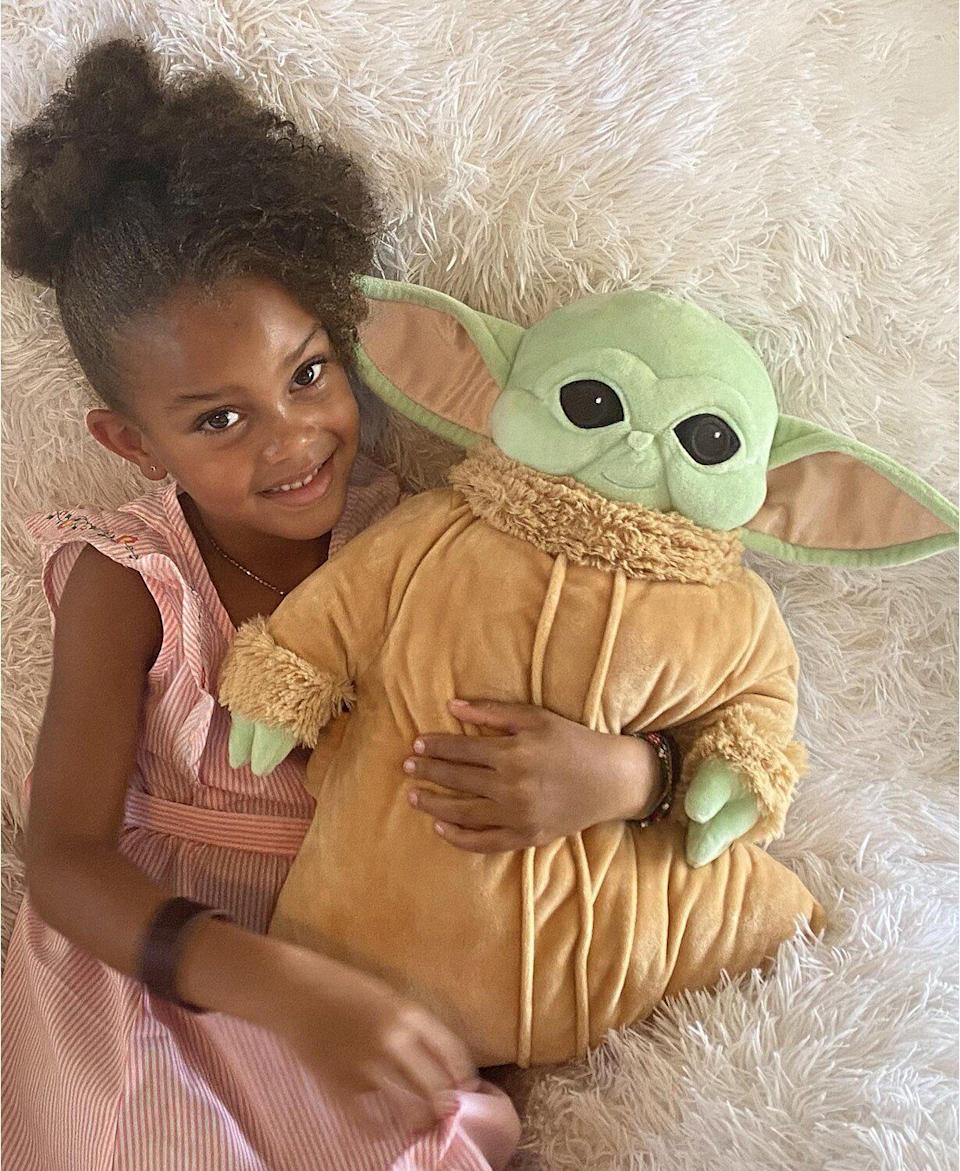 """Sometimes, it takes kids awhile to fall asleep, even after you read them a bedtime story. But this pillow shaped like their favorite """"Star Wars"""" character just might help. The stuffed animal is made from a soft plush.<a href=""""https://fave.co/36mBGlb"""" target=""""_blank"""" rel=""""noopener noreferrer"""">Find it for $30 at Macy's</a>."""