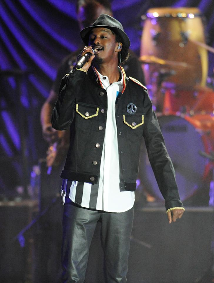 """K'naan performs at the """"A Decade of Difference"""" concert on October 15, 2011, at the Hollywood Bowl, Los Angeles. <br><br>(Photo by Stephanie Cabral/Yahoo!)<br><br><a href=""""http://news.yahoo.com/blogs/the-difference/clinton-concert-video-watch-k-naan-perform-164316993.html"""">Watch K'naan's entire performance</a>"""