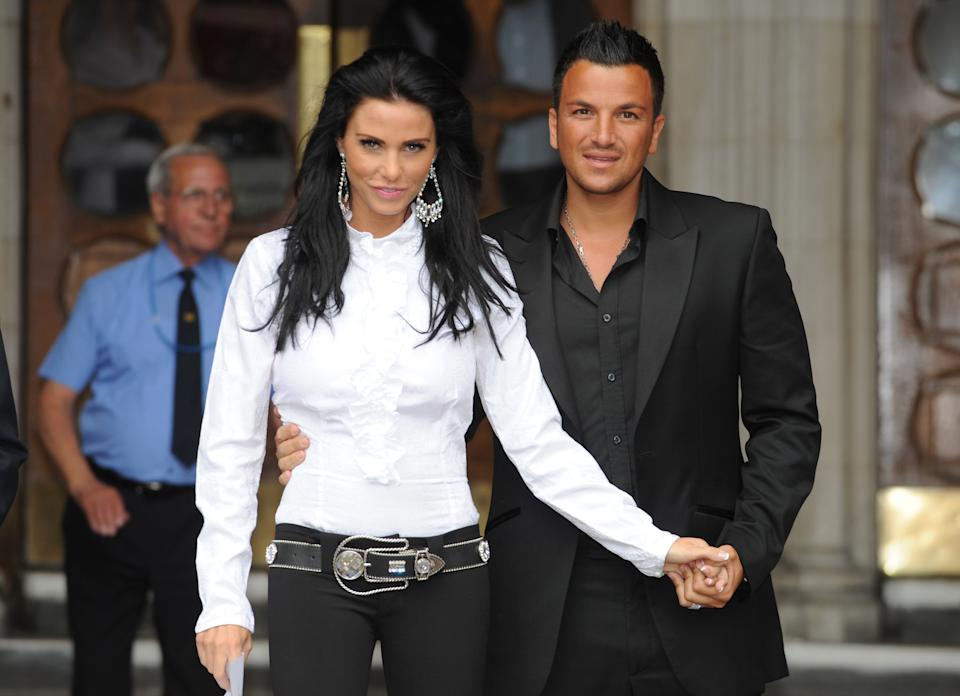 Katie Price with her first husband Peter Andre (PA Images)