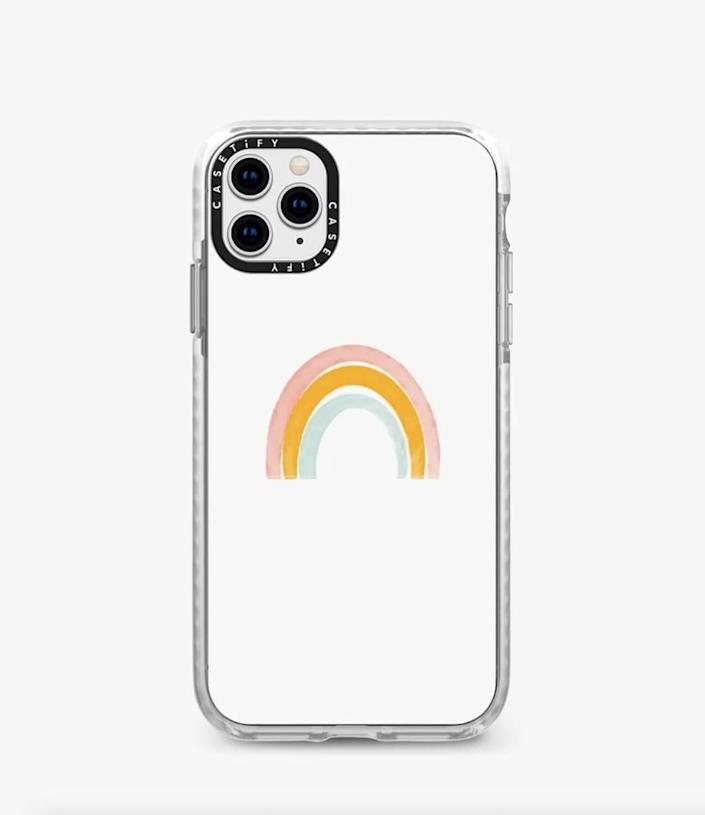 <p>Upgrade their phone with the <span>Casetify Impact Rainbow iPhone Case</span> ($50).</p>