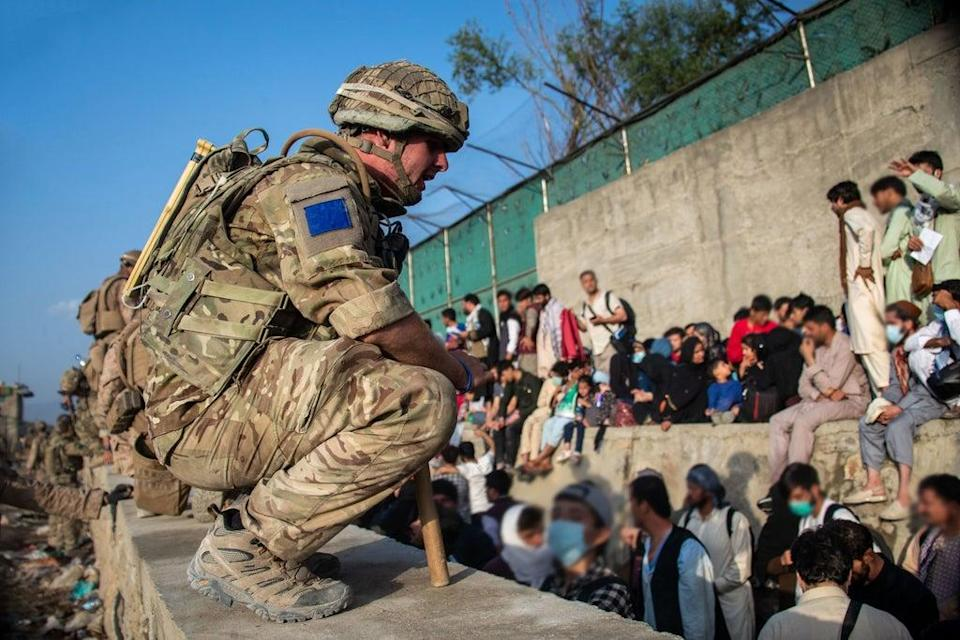 UK Armed Forces continue to take part in the evacuation of allied Afghans and other personnel from Kabul airport (PA)