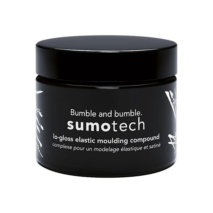 """<p><strong>Bumble and bumble</strong></p><p>ulta.com</p><p><strong>$29.00</strong></p><p><a href=""""https://go.redirectingat.com?id=74968X1596630&url=https%3A%2F%2Fwww.ulta.com%2Fp%2Fsumotech-xlsImpprod16451084&sref=https%3A%2F%2Fwww.menshealth.com%2Fgrooming%2Fg37755109%2Fhair-paste-for-men%2F"""" rel=""""nofollow noopener"""" target=""""_blank"""" data-ylk=""""slk:BUY IT HERE"""" class=""""link rapid-noclick-resp"""">BUY IT HERE</a></p><p>There's a reason Sumotech has been a favorite product among hairstylists for years. Like the love child of a paste, cream and <a href=""""https://www.menshealth.com/grooming/g37171560/best-hair-wax-for-men/"""" rel=""""nofollow noopener"""" target=""""_blank"""" data-ylk=""""slk:wax"""" class=""""link rapid-noclick-resp"""">wax</a>, it delivers the texture you want with a creamy, hydrating texture and a strong-ish, but still reworkable hold.</p>"""