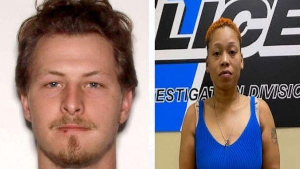 PHOTO: Michael Farmer (left), 25, and his dog Bruce were killed in a hit-and-run accident police say was allegedly committed by Dominique Houston (right), 38, in Sandy Springs, Georgia, in the evening on Sunday, April 25, 2021. (Sandy Springs Police Department)