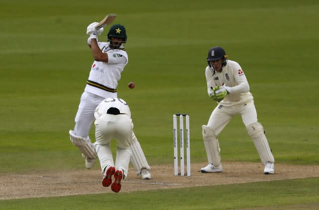 Pakistan opener Shan Masood looked solid