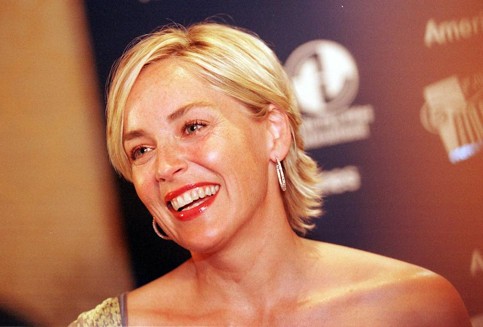 390924 08: Actress Sharon Stone attends the Women in Film and Video annual awards dinner June 20, 2001 in Washington, DC. (Photo by Karin Cooper/Getty Images)