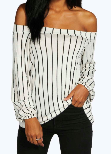 "<p>Give them the cold shoulder with the off-the-shoulder top. Seen on the likes of Kylie Jenner and even Kate Middleton, this style is definitely on point. Just make sure you have the right strapless bra. Pair with black pants and a pair of ankle boots for the winter season. </p><p><i>Lauren Stripe Off The Shoulder Swing Top, $37, <a href=""http://www.boohoo.com/day-tops/lauren-stripe-off-the-shoulder-swing-top/invt/dzz93316"" rel=""nofollow noopener"" target=""_blank"" data-ylk=""slk:boohoo.com"" class=""link rapid-noclick-resp"">boohoo.com</a></i></p>"