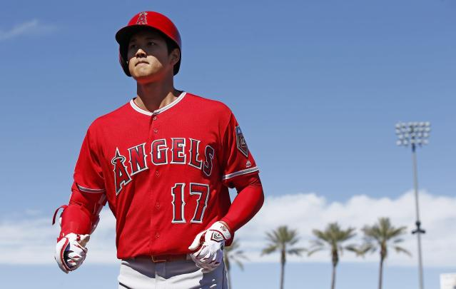 Scouts believe Shohei Ohtani major league pitchers are going to punish him with inside fastballs. (AP)