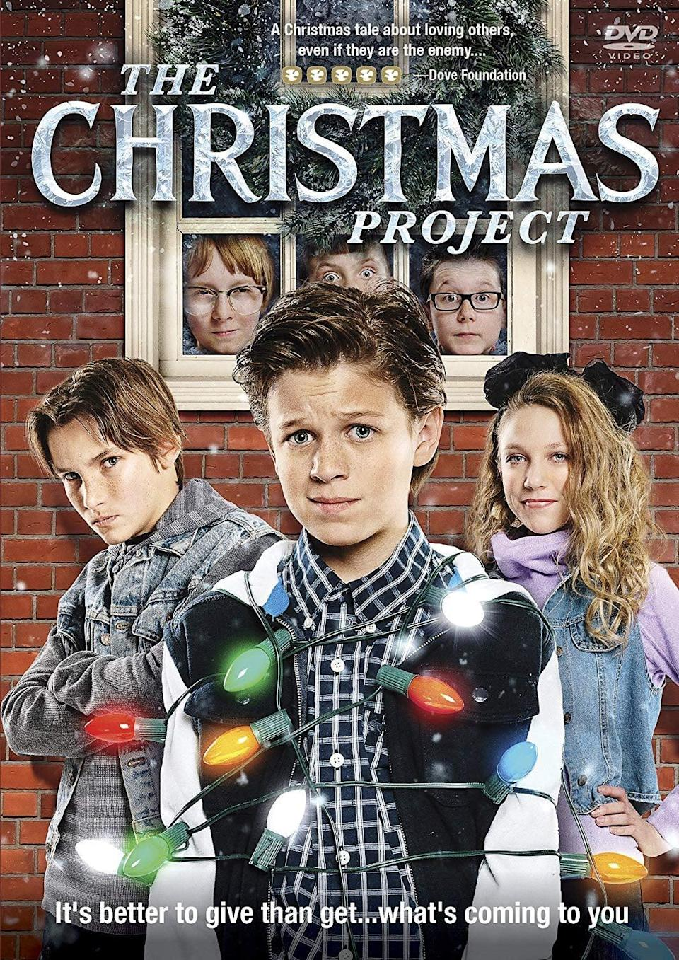 """<p><strong>Netflix description:</strong> """"Four brothers prepare for war when they're forced to deliver secret holiday gifts to the school bullies. But they soon learn kindness goes a long way.""""</p> <p><strong>Ages it's appropriate for:</strong> 8 and up</p> <p><strong>Watch it here:</strong> <a href=""""https://www.netflix.com/title/80156772"""" class=""""link rapid-noclick-resp"""" rel=""""nofollow noopener"""" target=""""_blank"""" data-ylk=""""slk:The Christmas Project""""><strong>The Christmas Project</strong></a></p>"""