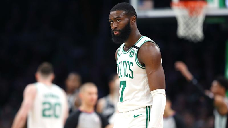 Jaylen Brown, Mike Scott express disappointment in 'bad list' of social justice messages for NBA jerseys
