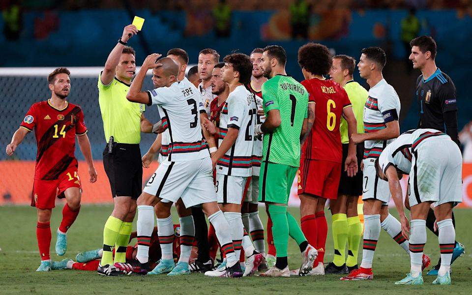 Row after Pepe booking - AFP