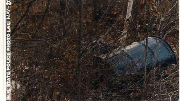 PHOTO: One of the barrels New Hampshire state police found in Bear Brook State Park. (New Hampshire State Police)