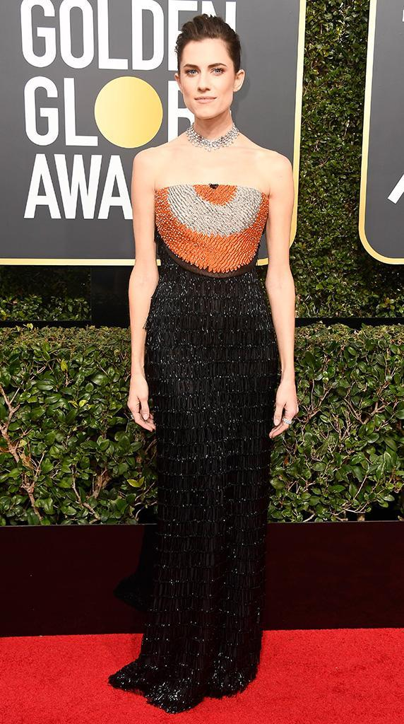 <p>The <em>Girls</em> alum arrives at the 75th Annual Golden Globe Awards at the Beverly Hilton Hotel in Beverly Hills, Calif., on Jan. 7, 2018. (Photo by Frazer Harrison/Getty Images) </p>