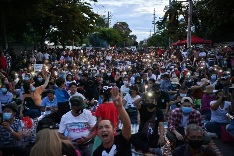 Protesters rally at Thai parliament as lawmakers debate reform
