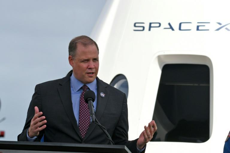 NASA Administrator Jim Bridenstine speaks during a press briefing at the Kennedy Space Center on November 13, 2020 in Cape Canaveral, Florida