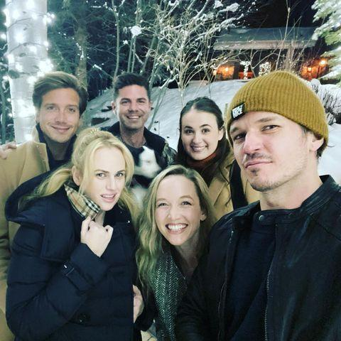"""<p>Wilson wished her followers """"happy holidays"""" from her """"cozy pod squad,"""" sharing a slideshow of photos from their Christmas getaway and outside of their private plane. </p>"""