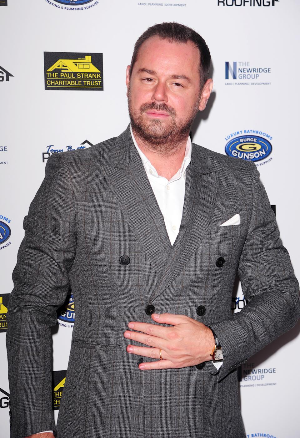 Danny Dyer attends the Paul Strank Charity Gala supporting Shooting Star Children's Hospices & Rays of Sunshine Charity at the Bank of England Sports Centre in London. (Photo by Keith Mayhew/SOPA Images/LightRocket via Getty Images)