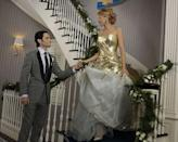 <p>And it's not just Blair who gets married on the show! Serena, played by Blake Lively (duh), marries Dan Humphrey in the series finale, wearing a strapless metallic gold and white gown—S knows a ~fashion moment~ when she sees one. </p>