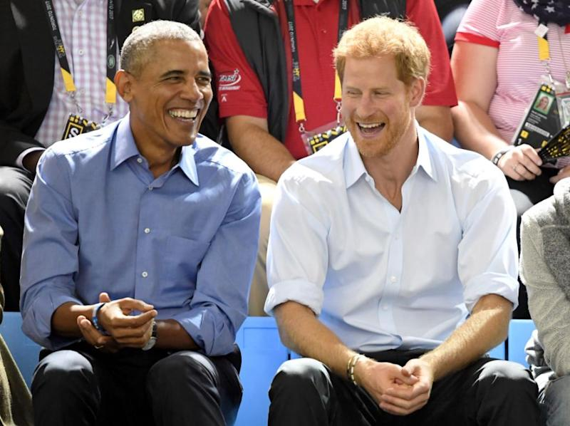 Prince Harry is famously very close the Obamas. Photo: Getty Images