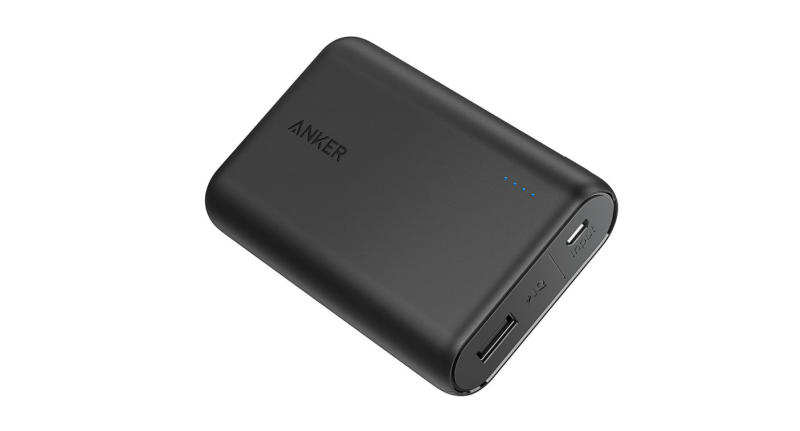 One of the smallest and lightest portable chargers with high-speed charging. Provides almost three-and-a-half iPhone 8 charges or two-and-a-half Galaxy S8 charges (Photo: Anker)