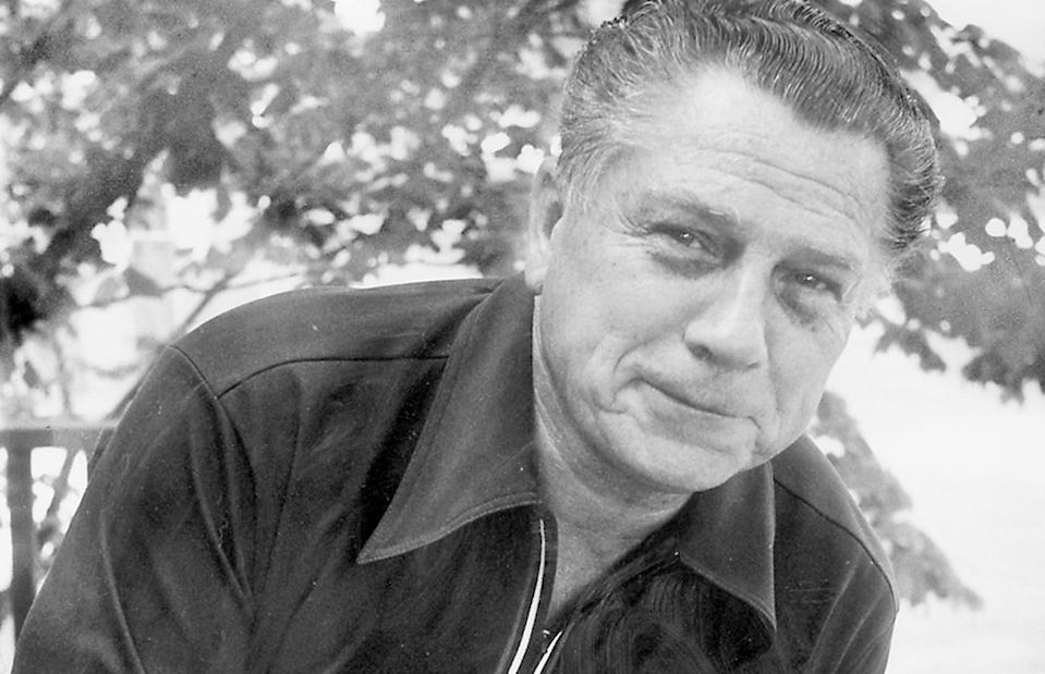 In this file photo taken on July 24, 1975, Jimmy Hoffa poses for a photo. Police will be taking soil core samples at a home in Roseville, Mich., in search of the remains of the missing Teamsters boss. (Tony Spina/Detroit Free Press/Tribune News Service via Getty Images)