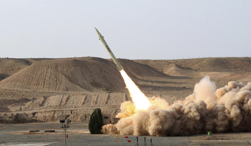 FILE -- This file photo released on Wednesday, Aug. 25, 2010, by the Iranian Defense Ministry, claims to show the launch of the Fateh-110 short-range surface-to-surface missile by Iranian armed forces, at an undisclosed location. Israel has carried out airstrikes against Syria twice in the past three days to target what officials say are shipments of highly accurate, Iranian-made guided missiles known as Fateh-110s. Israel worries the missiles could be transferred to Lebanon's Hezbollah, providing a major boost to the Shiite militant group's arsenal. (AP Photo/Iranian Defense Ministry,Vahid Reza Alaei, File)