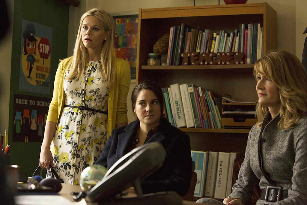 <p>Reese Witherspoon, Shailene Woodley, Laura Dern (Credit: HBO) </p>