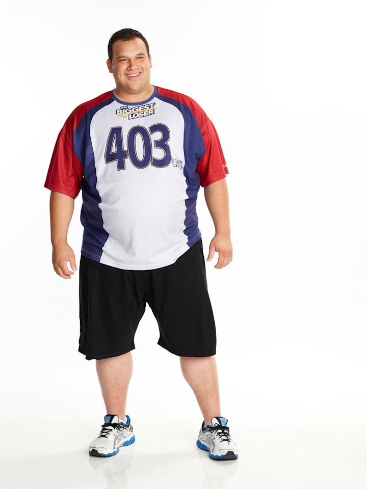 "Hap Holmstead competes on NBC's ""The Biggest Loser"" Season 15."