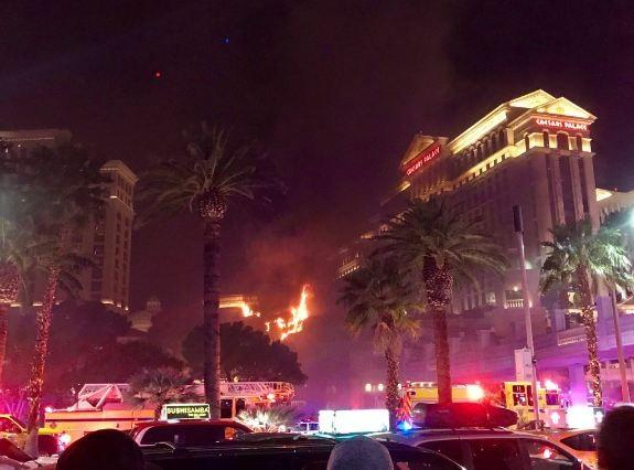 Fire at the Bellagio resort