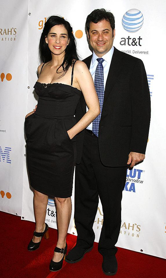 "Tomboy Sarah Silverman isn't the best when it comes to picking out red carpet attire. Nevertheless, we still can't help but love the outrageous comedienne and her sarcastic beau Jimmy Kimmel. Jeffrey Mayer/<a href=""http://www.wireimage.com"" target=""new"">WireImage.com</a> - April 26, 2008"
