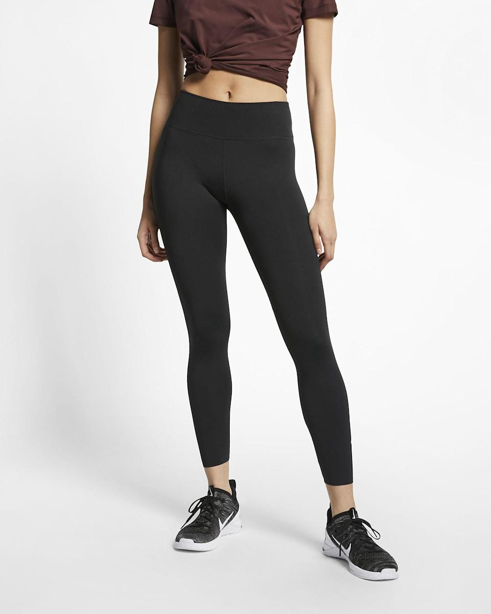 <p>You can't go wrong with these <span>Nike One Lux 7/8 Tights</span> ($90).</p>