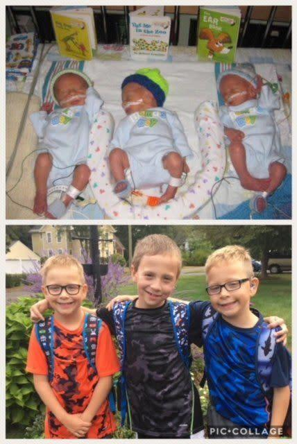 My preemies were born at 31 weeks, five days in 2009 -- triplet boys. Today, they are healthy, very active 8-year-olds. We were very blessed!<br><br><i>--Laura Westman</i>