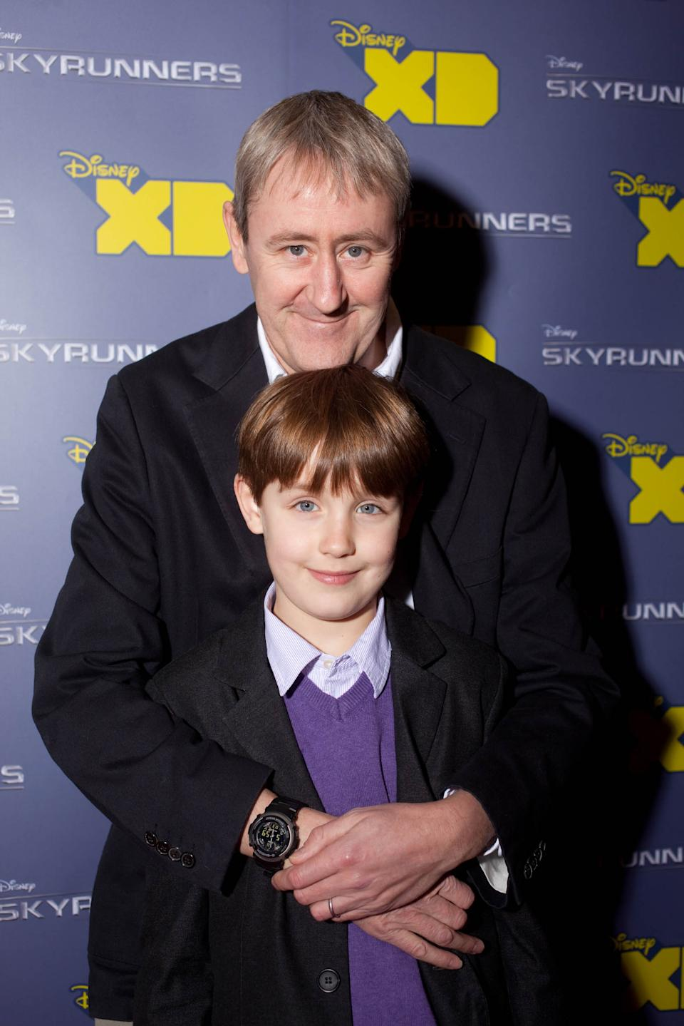 "SKYRUNNERS - 26 January 2010 - Nicholas Lyndhurst attends the London screening of the Disney XD Original Movie, ""Skyrunners"" with his son. ""Skyrunners"" premieres on Disney XD at 5.30pm on February 12th. (Photo by Nick Ray/Disney XD via Getty Images)"