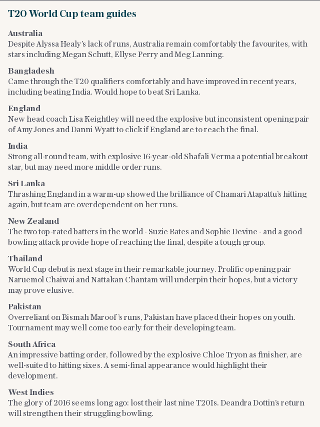 T20 World Cup team guides