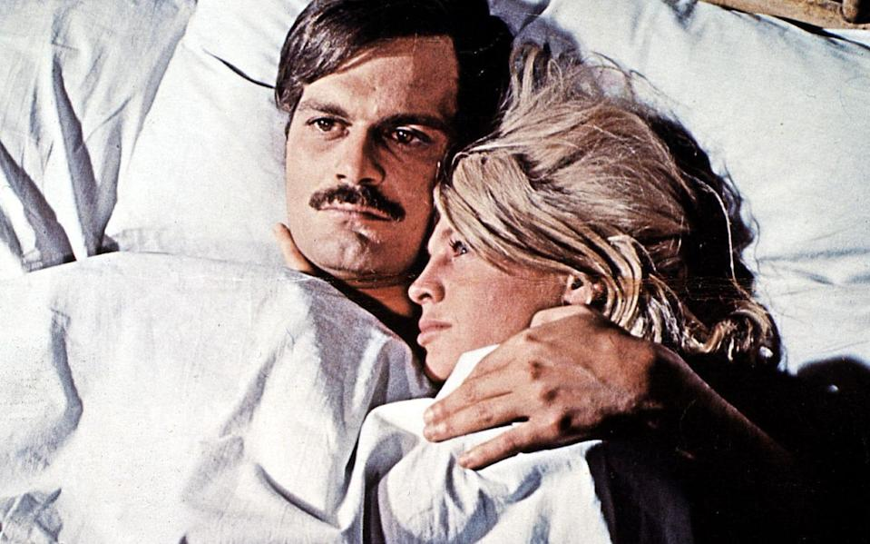 No Kubrick chills, apart from the snow: Omar Sharif and Julie Christie in Doctor Zhivago - Hulton Archive