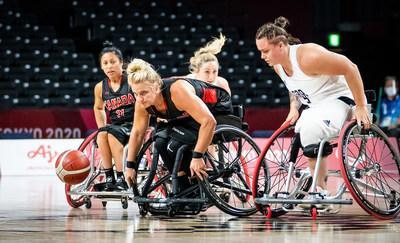 Kady Dandeneau and Canada's women's wheelchair basketball team return to the court on Friday for their second game at Tokyo 2020. PHOTO: Dave Holland/Canadian Paralympic Committee (CNW Group/Canadian Paralympic Committee (Sponsorships))