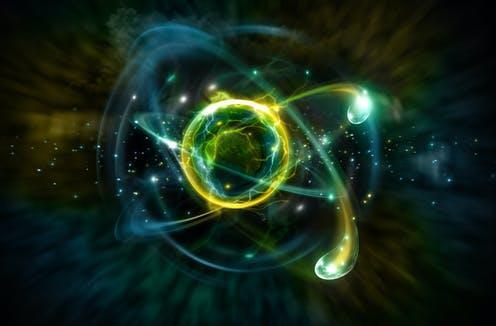 """<span class=""""caption"""">Scientists think they may have found a new clue about the subatomic world around us. </span> <span class=""""attribution""""><a class=""""link rapid-noclick-resp"""" href=""""https://www.shutterstock.com/image-illustration/close-colorful-atomic-particle-background-science-733895305"""" rel=""""nofollow noopener"""" target=""""_blank"""" data-ylk=""""slk:Ezume Images via Shutterstock"""">Ezume Images via Shutterstock</a></span>"""