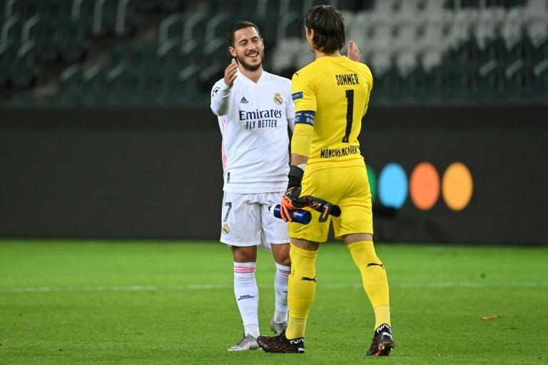 Eden Hazard came on off the bench for Real Madrid against Borussia Monchengladbach in the Champions League on Tuesday